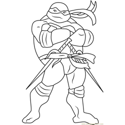 Raphael Free Coloring Page for Kids