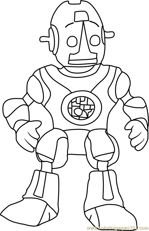 Robot Roscoe Coloring Page Free The Backyardigans