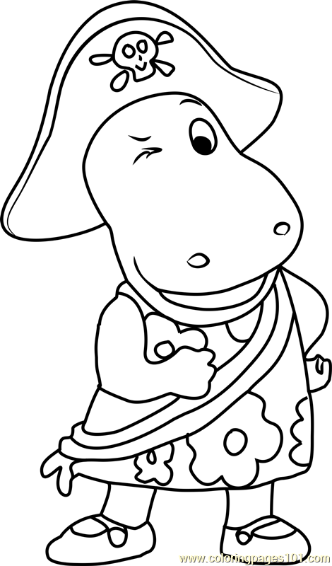 Tasha Pirate Coloring Page Free