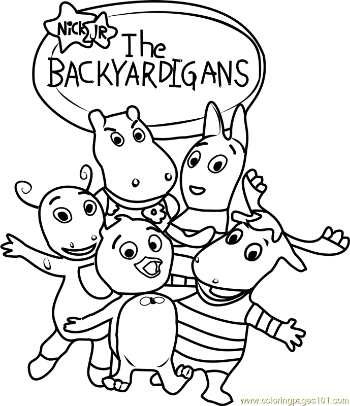 The Backyardigans Coloring Page Free The Backyardigans Coloring