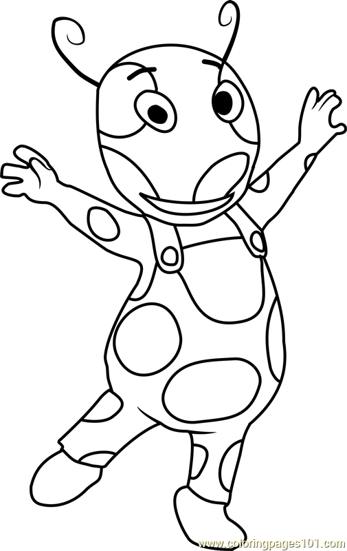 Uniqua Dancing Coloring Page