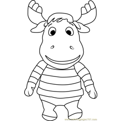 Beanie Buddy Tyrone coloring page