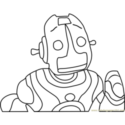 Robot Roscoe Head Free Coloring Page for Kids