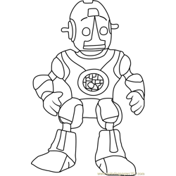 Robot Roscoe Free Coloring Page for Kids