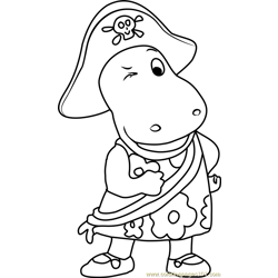 Tasha Pirate Free Coloring Page for Kids