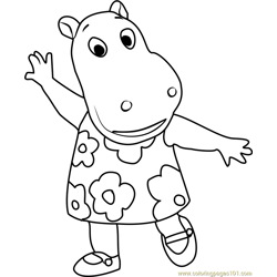 Tasha Free Coloring Page for Kids