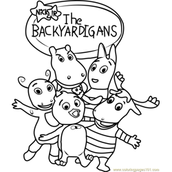 The Backyardigans Free Coloring Page for Kids