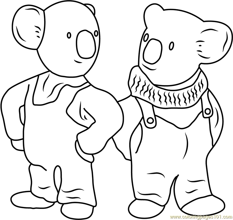 Frank and Buster Coloring Page