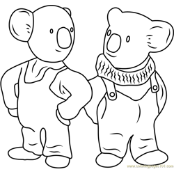 Frank and Buster Free Coloring Page for Kids