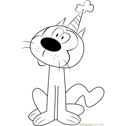 Cliff coloring page