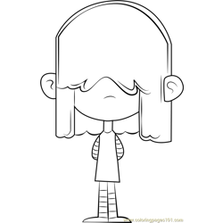 Lucy Loud Free Coloring Page for Kids
