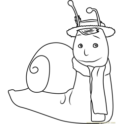Brian the Snail coloring page