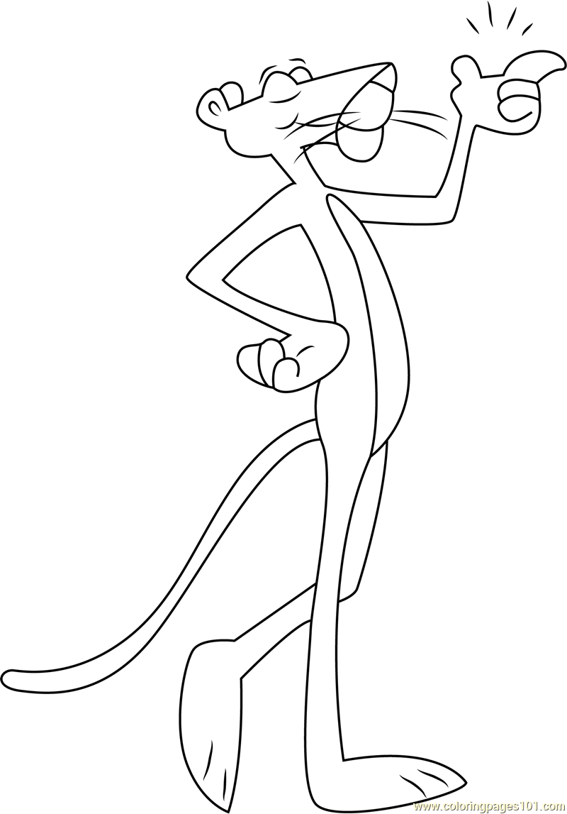 Pink Panther coloring pages printable games | 1147x800