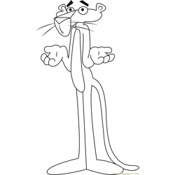 Pink Panther Free Coloring Page for Kids