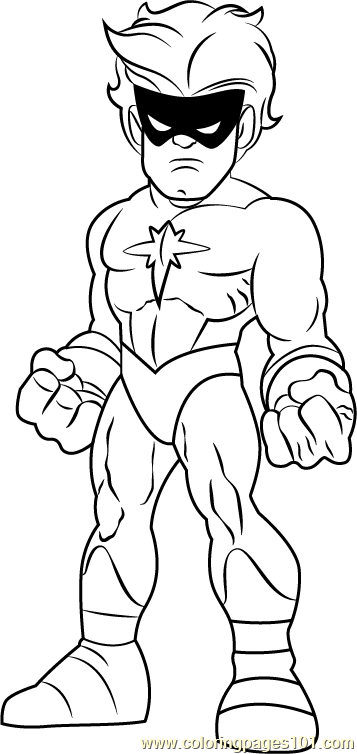 Captain Marvel Coloring Page