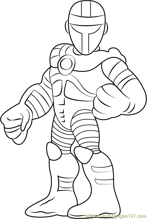 Superhero Thanos Coloring Pages: Crimson Dynamo Coloring Page