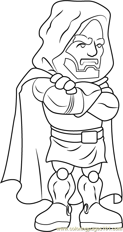 Dr. Doom Coloring Page
