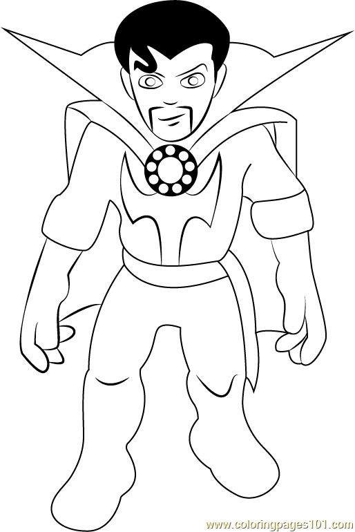 Dr Strange Coloring Page Free The Super Hero Squad Show