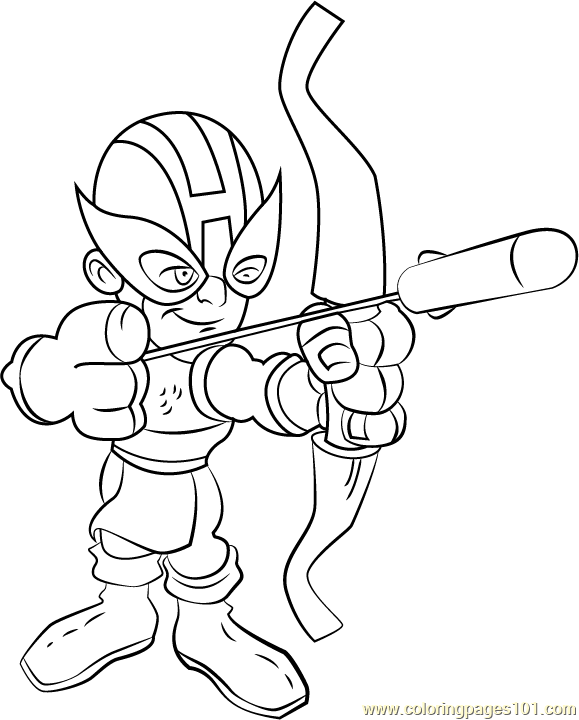 Hawkeye coloring page free the super hero squad show for Marvel hawkeye coloring pages