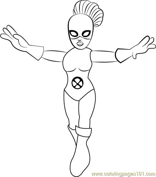 Jean Grey Coloring Page - Free The Super Hero Squad Show ...