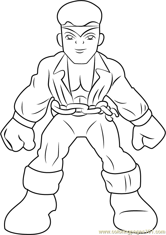 Luke Cage Coloring Page Free The Super Hero Squad Show