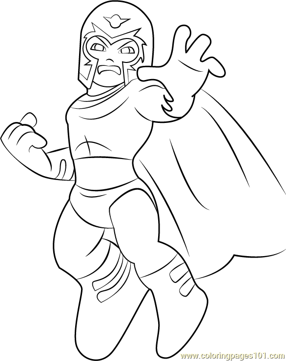 Magneto Coloring Page Free The Super Hero Squad Show