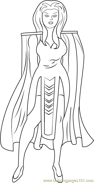 Princess Anelle Coloring Page