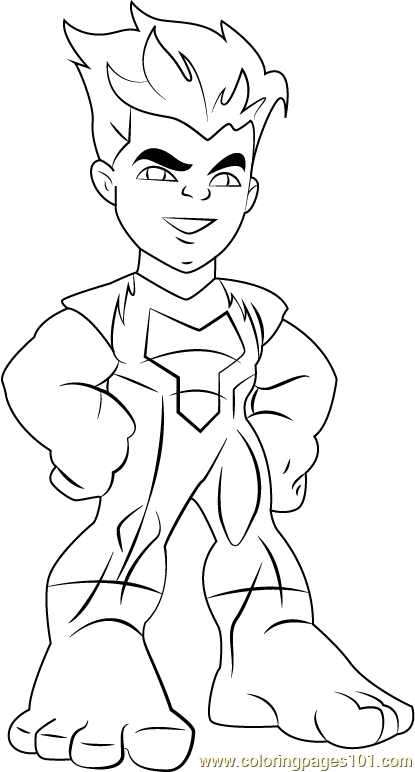 Reptil Coloring Page - Free The Super Hero Squad Show Coloring Pages : ColoringPages101.com