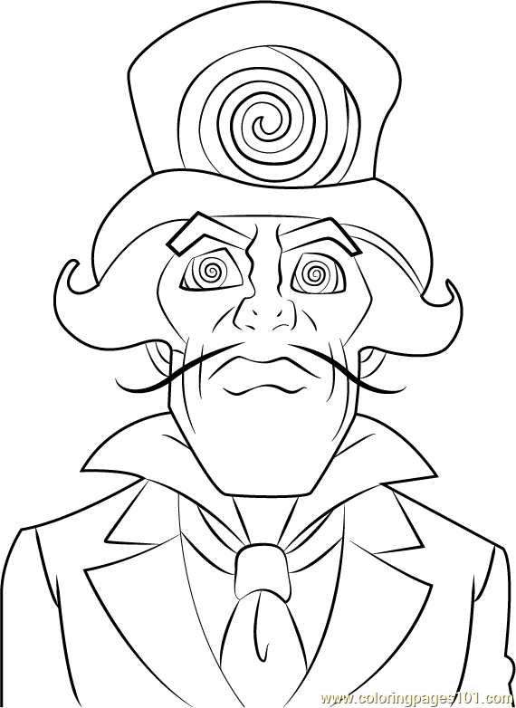 Ringmaster Coloring Page Free The Super Hero Squad Show