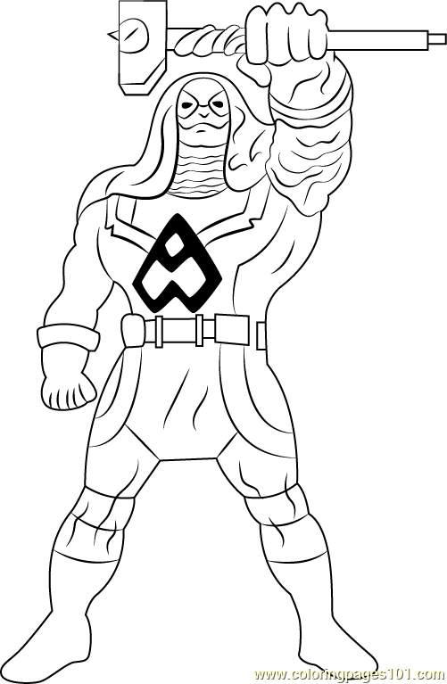 Ronan the Accuser Coloring Page Free The Super Hero