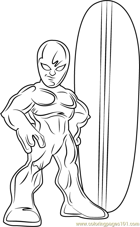 Silver Surfer Coloring Page - Free The Super Hero Squad Show ...