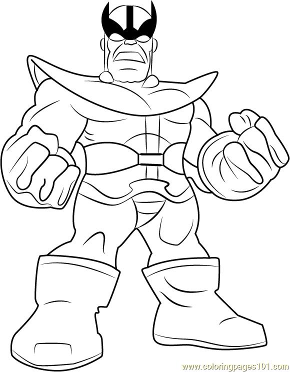 Super Hero Squad 7 Ausmalbilder für Kinder. Malvorlagen zum ... | 744x580