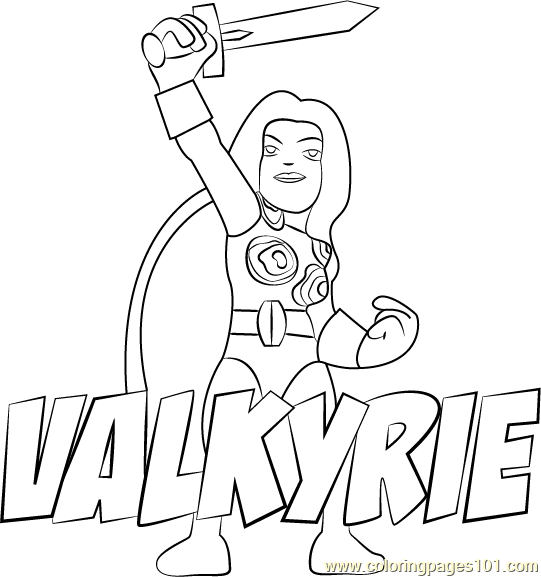 Valkyrie Coloring Page