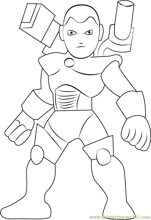 War Machine Coloring Page Free The Super Hero Squad Show
