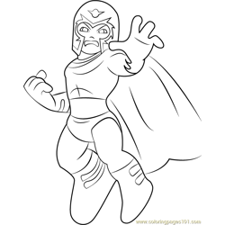 Magneto coloring page