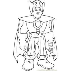 Melter coloring page