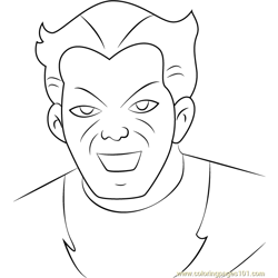 Molecule Man Free Coloring Page for Kids