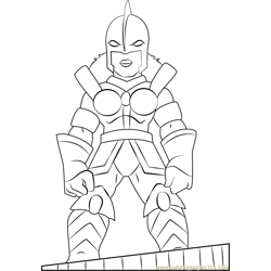 Power Princess Free Coloring Page for Kids