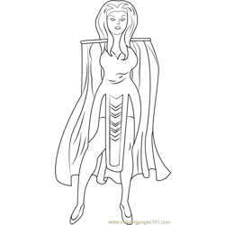 Princess Anelle Free Coloring Page for Kids