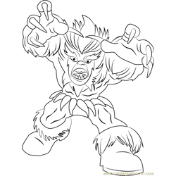 Sabretooth Free Coloring Page for Kids