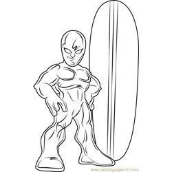 Silver Surfer Free Coloring Page for Kids