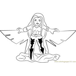 Songbird coloring page