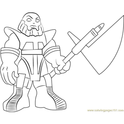 Terrax Free Coloring Page for Kids