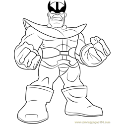 Thanos Free Coloring Page for Kids