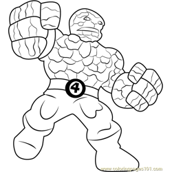 The Thing Free Coloring Page for Kids