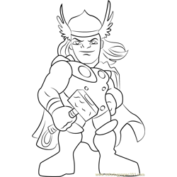 Thor Free Coloring Page for Kids