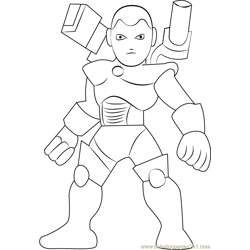 War Machine Free Coloring Page for Kids