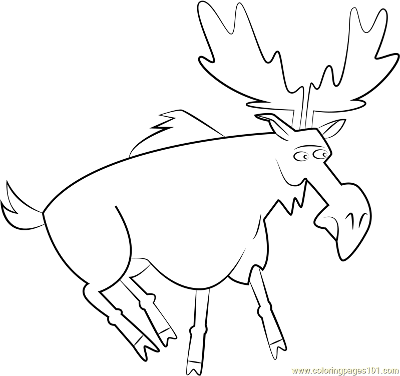 Moose Coloring Pages Printable Moose Coloring Pages For Kids ... | 751x799