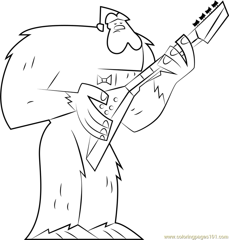 Sasquatchanakwa Coloring Page