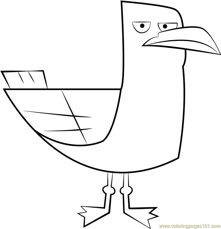Seagull Coloring Page